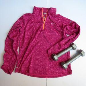 Magenta and orange Nike fleece jacket